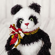 Куклы и игрушки handmade. Livemaster - original item panda toys, knitted Japan black bear handmade toys, wild plush panda. Handmade.