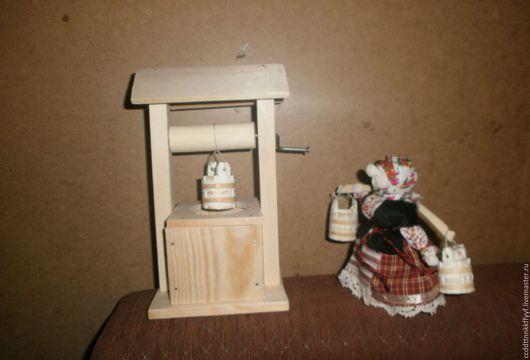 Миниатюра ручной работы. Ярмарка Мастеров - ручная работа. Купить колодец. Handmade. Белый, деревянная миниатюра