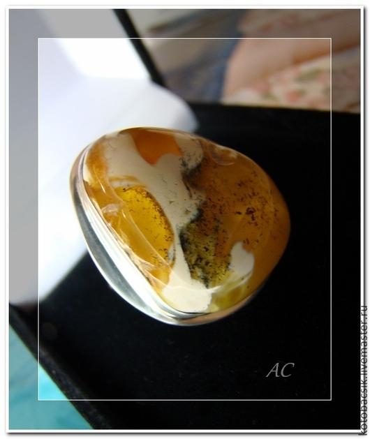 """Кольца ручной работы. Ярмарка Мастеров - ручная работа. Купить Кольцо """"Дикая орхидея"""". Handmade. Желтый, янтарные украшения"""