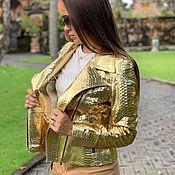 handmade. Livemaster - original item Female jacket from Python. Handmade.