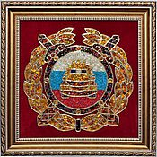 Подарки к праздникам handmade. Livemaster - original item The emblem of traffic police of the Russian Federation from amber. Handmade.