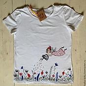 Одежда ручной работы. Ярмарка Мастеров - ручная работа футболка с феечкой. Handmade.