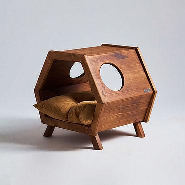Товары для питомцев ручной работы. Ярмарка Мастеров - ручная работа Лежанка,домик,тумба Retro Loft Craft&Horse. Handmade.
