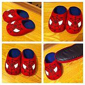 """Обувь ручной работы. Ярмарка Мастеров - ручная работа Тапочки детские """"Человек-паук"""". Handmade."""