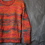 Одежда handmade. Livemaster - original item Pullover knitted women men R. .44-46 Loft. Handmade.