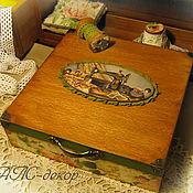 Для дома и интерьера ручной работы. Ярмарка Мастеров - ручная работа Шкатулка для швейных принадлежностей. Handmade.