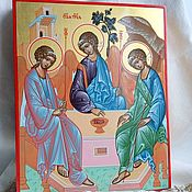 Картины и панно handmade. Livemaster - original item HOLY TRINITY. Miniature writing icon. Handmade.