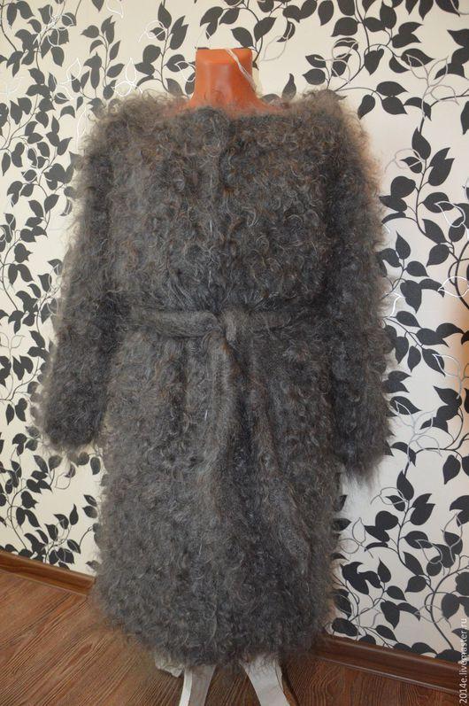 Верхняя одежда ручной работы. Ярмарка Мастеров - ручная работа. Купить Пальто пуховое Кудрявое женское. Handmade. Серебряный, пушистое