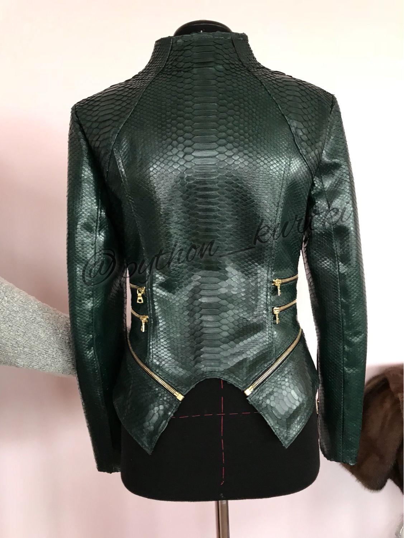 перед куртка из кожи питона женская фото будут маленькие