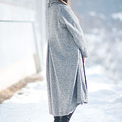 Одежда handmade. Livemaster - original item Cashmere coat, Gray coat, Warm coat, Long coat. Handmade.