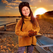Работы для детей, ручной работы. Ярмарка Мастеров - ручная работа Шлем летчика  и курточка для ффотопроекта Воздухоплаватель. Handmade.
