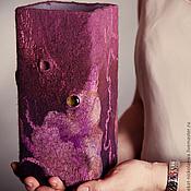 """Для дома и интерьера ручной работы. Ярмарка Мастеров - ручная работа Светильник бордовый """"Уютная спальня"""".. Handmade."""