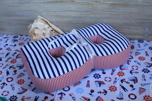 Текстиль, ковры ручной работы. Ярмарка Мастеров - ручная работа. Купить Буквы и цифры подушки в морском стиле. Handmade. Буквы