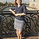 Юбки ручной работы. Ажурная юбка GlamGrey (вместе с подъюбником). Anastasiya M.. Ярмарка Мастеров. Серый цвет, вязаная юбка