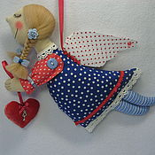 Мягкие игрушки ручной работы. Ярмарка Мастеров - ручная работа Ангел с сердцем. Handmade.