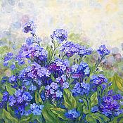 Картины и панно handmade. Livemaster - original item oil painting meadow of forget-me-nots.. Handmade.