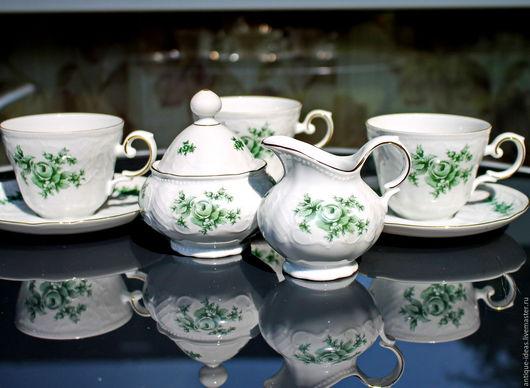 Винтажная посуда. Ярмарка Мастеров - ручная работа. Купить Чайный набор. Seltmann Weiden, Германия. Handmade. Антиквариат, раритет