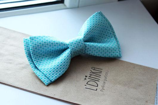 """Галстуки, бабочки ручной работы. Ярмарка Мастеров - ручная работа. Купить Шелковая галстук-бабочка """"Голубая лагуна"""", 11см.. Handmade."""