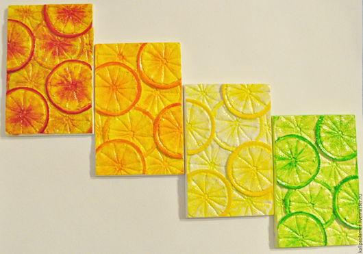 Натюрморт ручной работы. Ярмарка Мастеров - ручная работа. Купить Панно расписное настенное Цитрус Апельсин-Лимон-Лайм. Handmade.