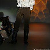 Одежда handmade. Livemaster - original item 6_034 Jeans men, color chocolate. Handmade.