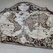 Для дома и интерьера ручной работы. Ярмарка Мастеров - ручная работа Ключница Старинная карта. Handmade.