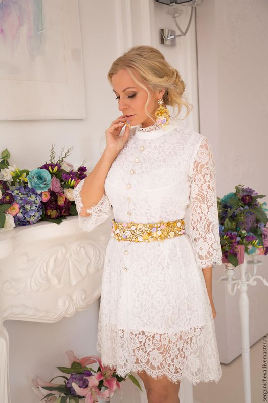 """Платья ручной работы. Ярмарка Мастеров - ручная работа. Купить Платье""""Chantilly Аir""""в стиле DG. Handmade. Нарядное платье, трапеция"""