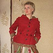 """Одежда ручной работы. Ярмарка Мастеров - ручная работа Бохо-куртка """"Спелая вишня"""". Handmade."""