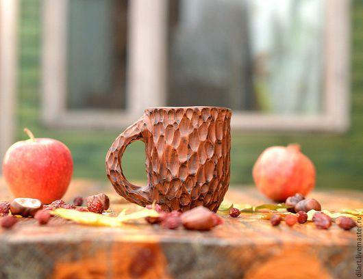 Кружки и чашки ручной работы. Ярмарка Мастеров - ручная работа. Купить Кружка для чая ручной работы Резная (вертикаль). Handmade.