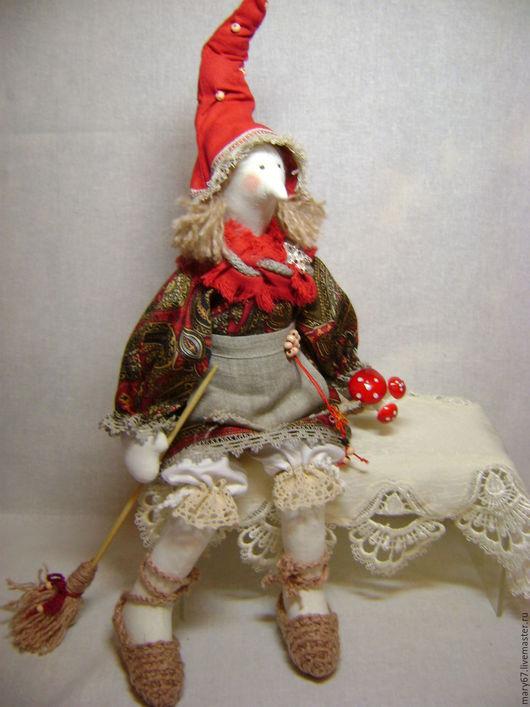 Куклы Тильды ручной работы. Ярмарка Мастеров - ручная работа. Купить Ведьмочка простушка. Handmade. Бордовый, ведьмочка, кукла интерьерная