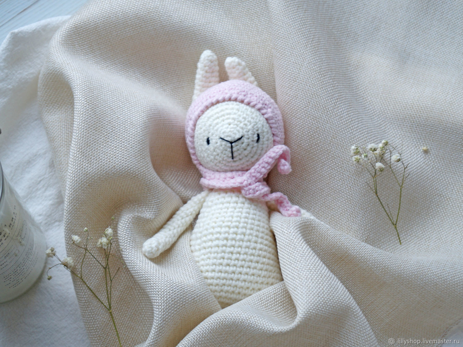 Crocheted rattle-Bunny, Teethers and rattles, St. Petersburg,  Фото №1