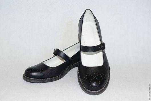 Обувь ручной работы. Ярмарка Мастеров - ручная работа. Купить Old school Sale 3500. Handmade. Черный, туфли из кожи