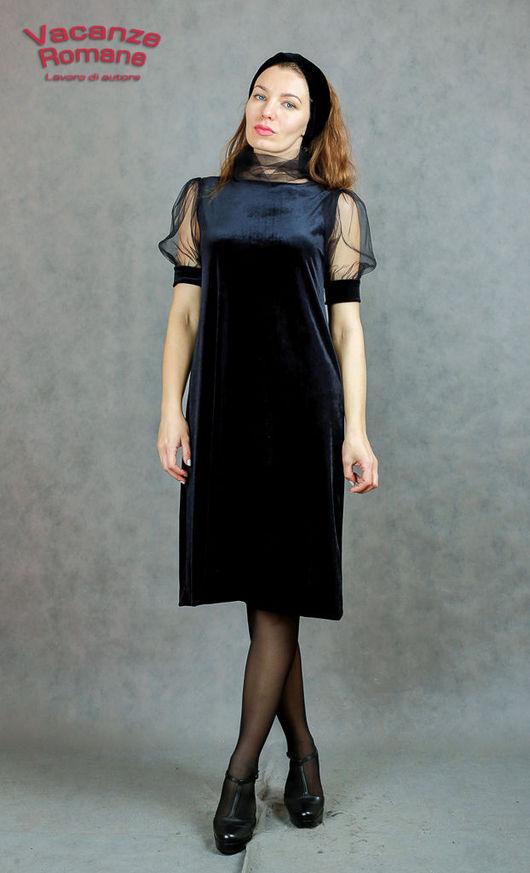 Платья ручной работы. Ярмарка Мастеров - ручная работа. Купить Vacanze Romane-546/1. Handmade. Черный, бархатное платье