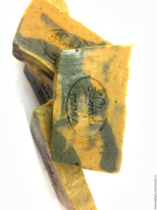 """Мыло ручной работы. Ярмарка Мастеров - ручная работа. Купить """"Еловое со спирулиной"""" натуральное мыло ручной работы. Handmade."""