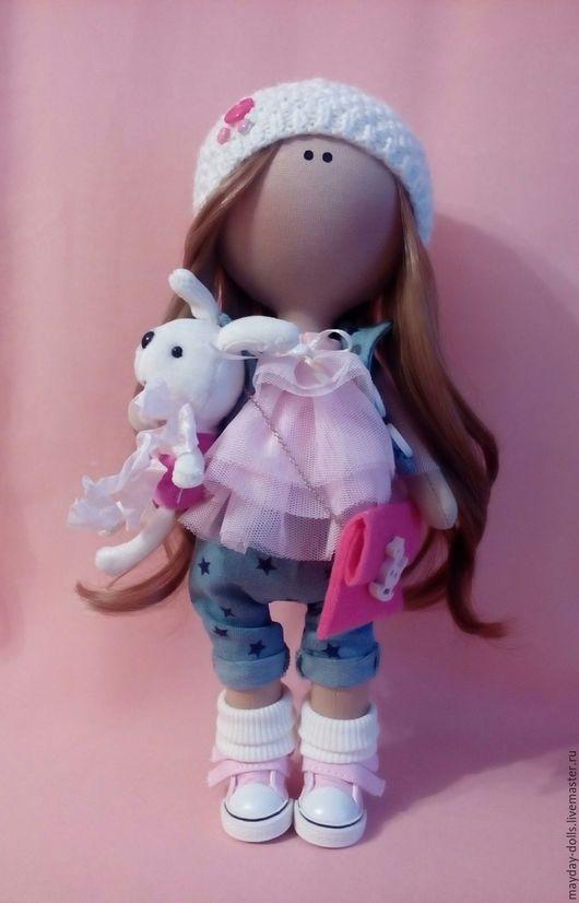 Куклы тыквоголовки ручной работы. Ярмарка Мастеров - ручная работа. Купить Интерьерная текстильная кукла большеножка Алёнка. Handmade. тыквоголовка