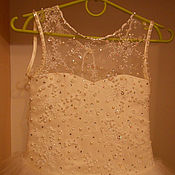 Свадебный салон ручной работы. Ярмарка Мастеров - ручная работа Нежное платье цвета пудры для выпускного в детский сад. Handmade.