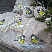 Подарки к праздникам handmade. Livemaster - original item Seven Tits on happiness.. Christmas gift set Flax Painting.. Handmade.
