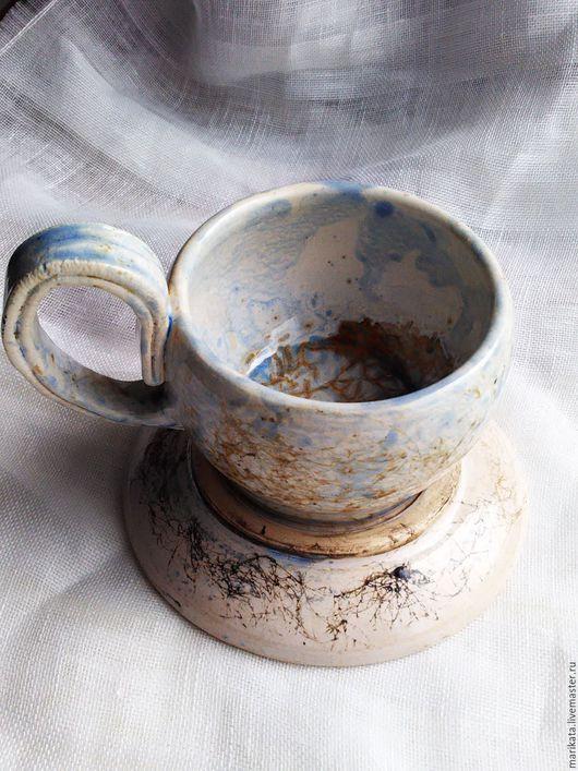 """Кружки и чашки ручной работы. Ярмарка Мастеров - ручная работа. Купить Кофейная пара """"Карта пустыни. Вечерний зной"""", керамика.. Handmade."""