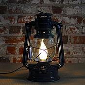 Настольные лампы ручной работы. Ярмарка Мастеров - ручная работа Керосиновая лампа электрическая настольная лофт керосиновый фонарь. Handmade.
