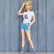 Куклы и игрушки ручной работы. Ярмарка Мастеров - ручная работа Одежда для кукол БЖД  Реалистичные шорты джинсовые разные модели. Handmade.