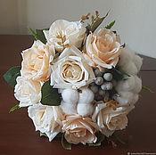 """Свадебные букеты ручной работы. Ярмарка Мастеров - ручная работа 4 вида """"Счастье"""" зимний букет невесты из искусственных цветов. Handmade."""