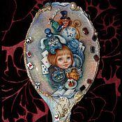 """Для дома и интерьера ручной работы. Ярмарка Мастеров - ручная работа Зеркало """"Алиса в стране чудес"""". Handmade."""