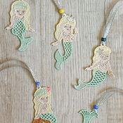 Куклы и игрушки handmade. Livemaster - original item 5pcs Little mermaid toy decor jewelry bookmark pendant for Mobil. Handmade.