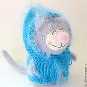"""Куклы и игрушки ручной работы. Ярмарка Мастеров - ручная работа Котик """"Дрёмка"""" (вязаная мягкая игрушка кот). Handmade."""