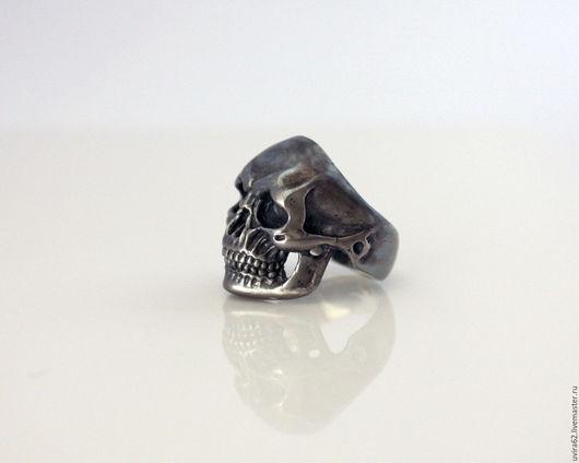 """Кольца ручной работы. Ярмарка Мастеров - ручная работа. Купить Кольцо череп - """"Dark"""". Handmade. Черный, кольцо череп"""