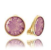 Украшения handmade. Livemaster - original item Lilac earring clips for the ears for my daughter