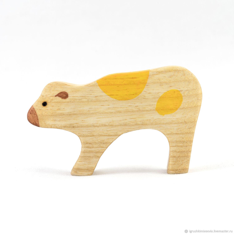 Теленок  деревянная  развивающая игрушка, Вальдорфские куклы и звери, Смоленск,  Фото №1