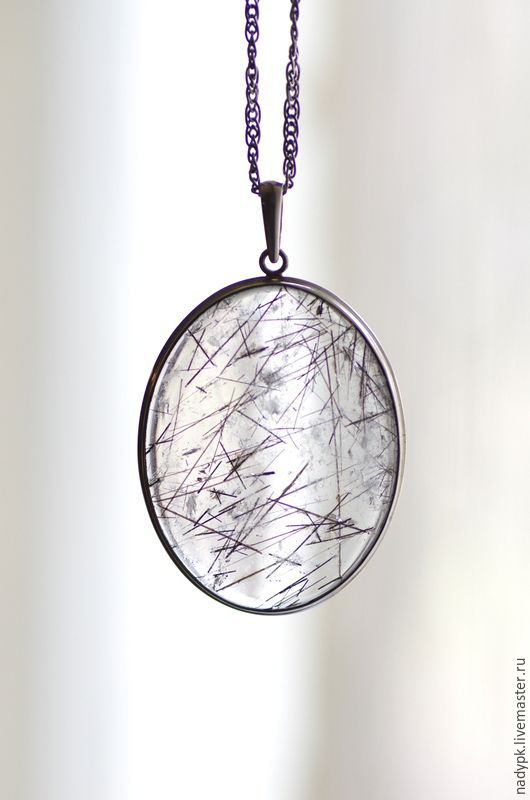 Pendant with tourmaline quartz 'Ice', silver, Pendants, Moscow,  Фото №1