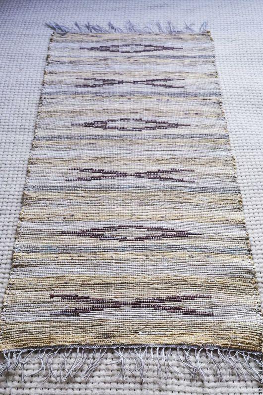 Текстиль, ковры ручной работы. Ярмарка Мастеров - ручная работа. Купить Половик ручного ткачества (№ 115). Handmade. Бежевый