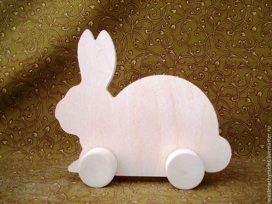 Декупаж и роспись ручной работы. Ярмарка Мастеров - ручная работа. Купить Заяц-кролик на колесиках. Handmade. Заяц игрушка