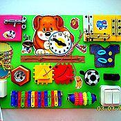 Куклы и игрушки ручной работы. Ярмарка Мастеров - ручная работа Бизиборд - щенок в салатовом цвете. Handmade.